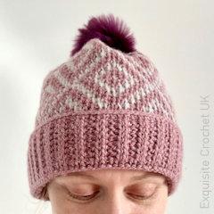 Thumbnail image of the Tunisian Ebun Hat free crochet pattern