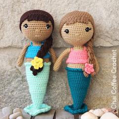 Thumbnail image of the Zoya the amigurumi mermaid doll free crochet pattern