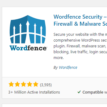 A screenshot of the Wordfence plugin image for blocking print friendly websites
