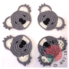 Free Koala Coasters Crochet Pattern