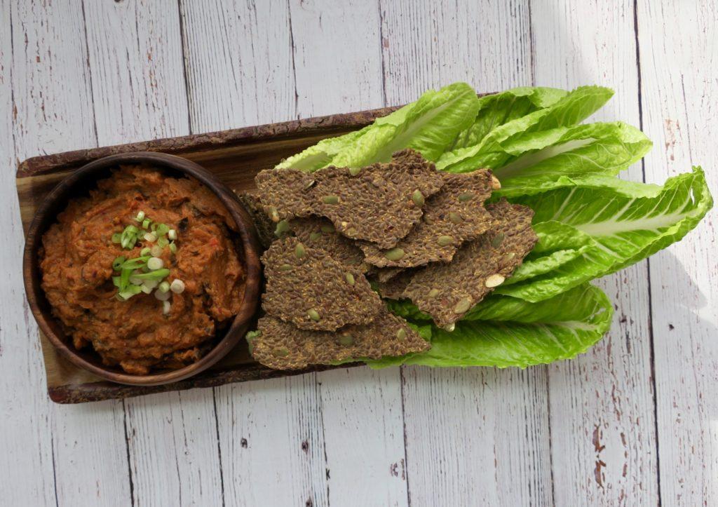 Image result for roasted red pepper baba ganoush