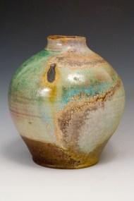 jar with oribe glaze. NFS