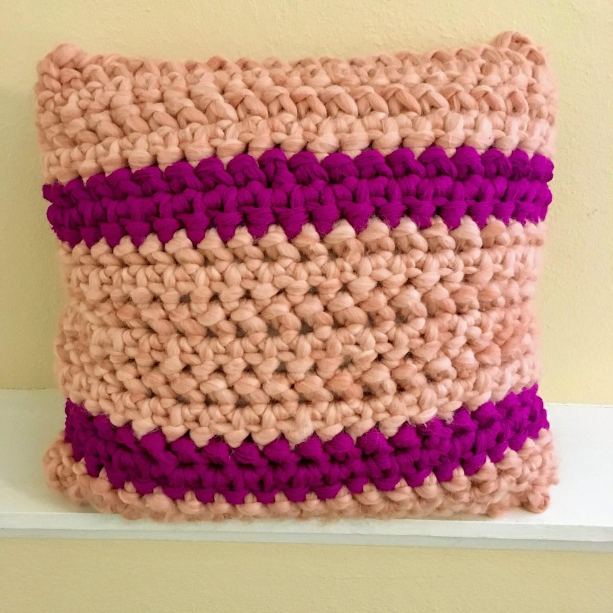 Cotton Candy Pillow Sham Pattern Hookyarncarabiner