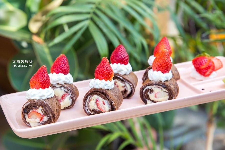 亞力的家法式薄餅小館 草莓乳酪巧克一口捲 NTD219
