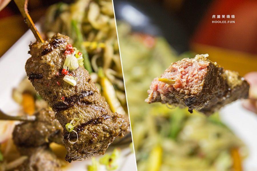 小義樓 泰式綠咖哩沙嗲肉串義大利麵