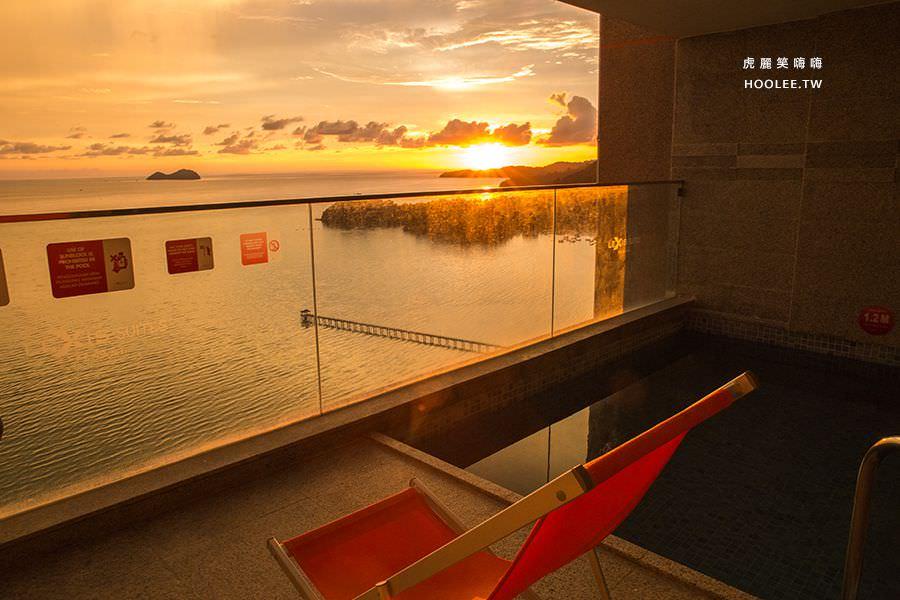 Lexis Suites Penang 檳城住宿推薦 檳城麗昇套房 夕陽