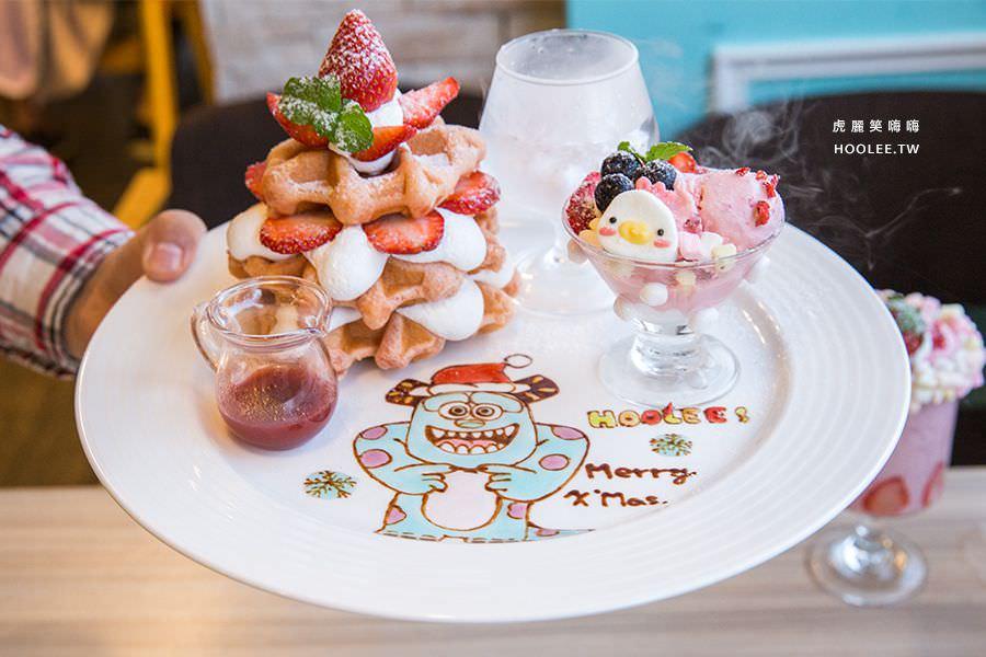 Poppy Waffle 高雄 粉紅色戀曲 草莓鬆餅塔