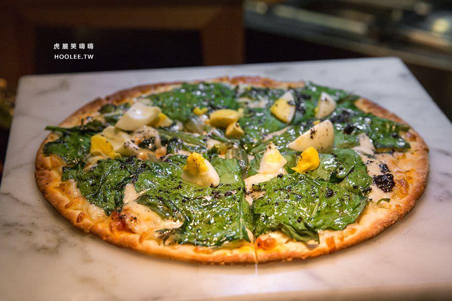 捷絲旅 蔬食百匯 Double Veggie 高雄素食吃到飽 菠菜松露蛋披薩