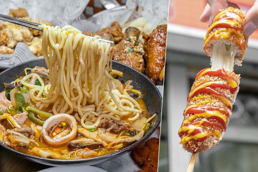 明朗米熱狗(高雄)左營2號店開幕!超牽絲莫扎起司熱狗,韓式料理必吃海鮮炒瑪麵和炸雞