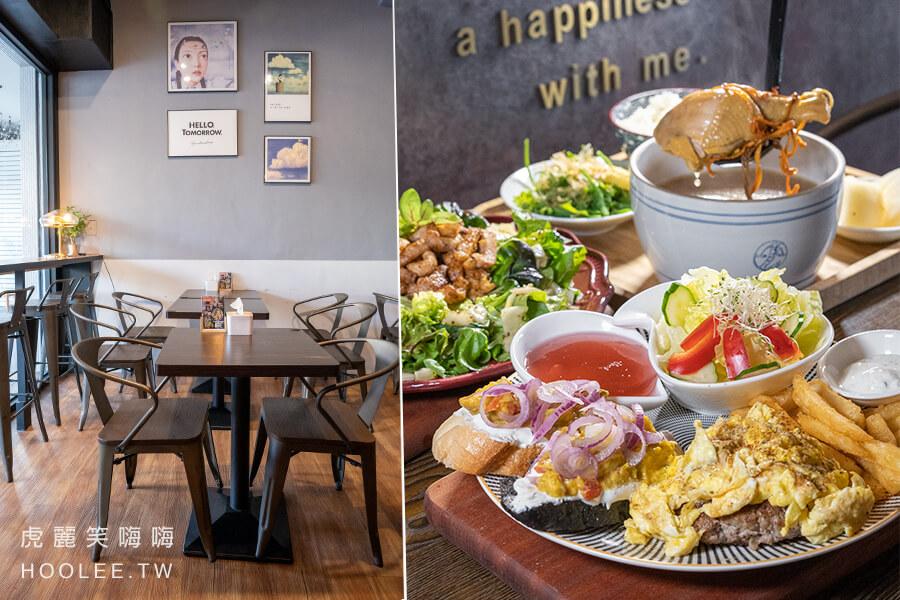 H木華輕食午晚餐(高雄)溫馨文青風小餐館!厚厚手拍松露豬肉漢堡排,暖心姬松茸香菇雞湯套餐