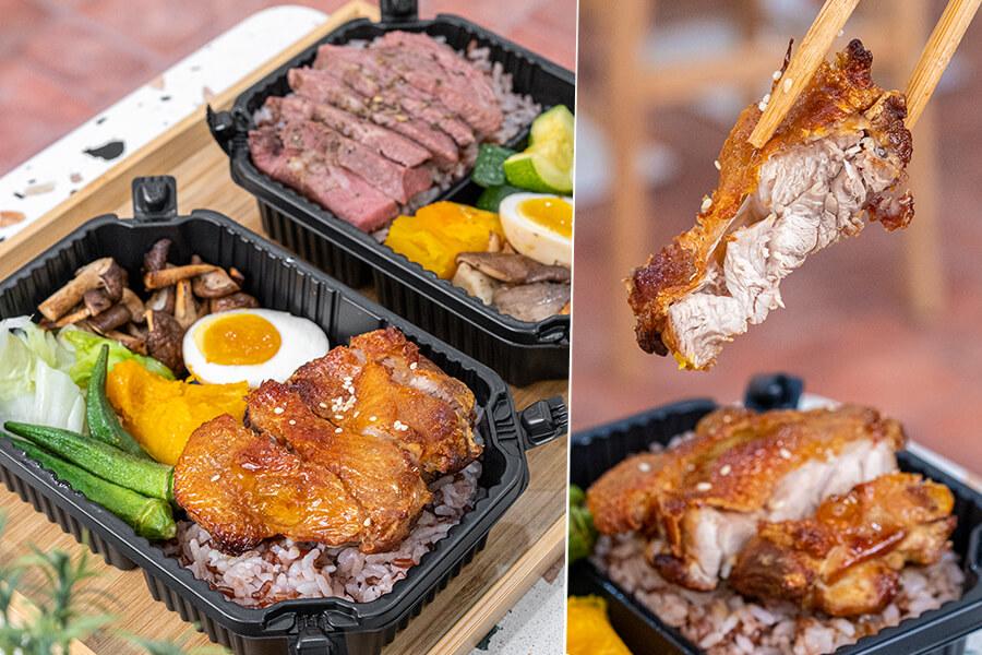 初雞 健康餐盒(高雄)元榆牧場開的輕食便當店!必吃炙燒衝浪雞腿,還有厚厚的舒肥板腱牛