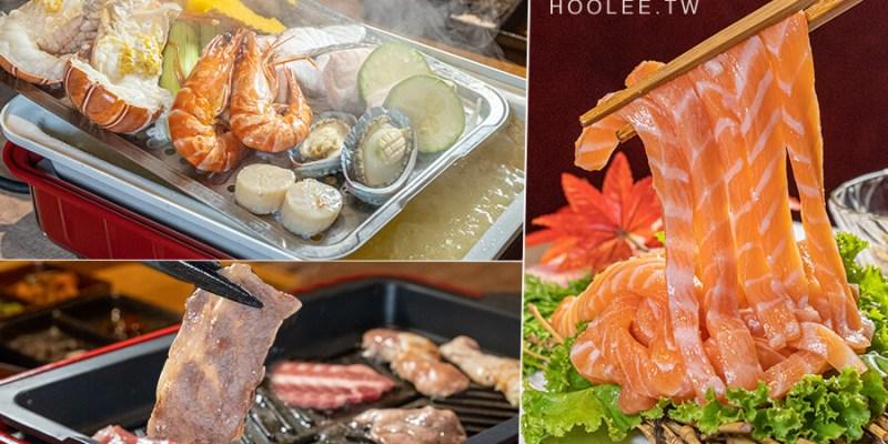 宮鶴炙燒專門店(高雄)左營人氣燒烤店!奢華海陸空炊煙套餐3種吃法,超狂的鮭魚生魚片拉麵