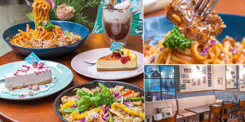 莓塔咖啡館 新光店(高雄)聚餐好去處!肉食推薦嫩煎牛肉蕃茄義大利麵,療癒法式布蕾烤起司蛋糕