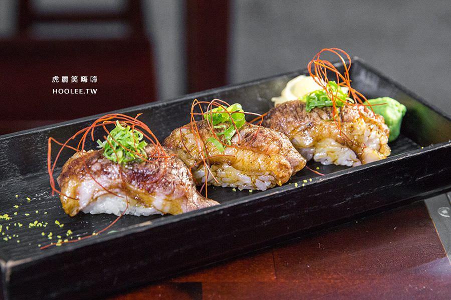 旭津壽司 高雄平價日本料理 炙燒牛肉握壽司(3入) NT$120