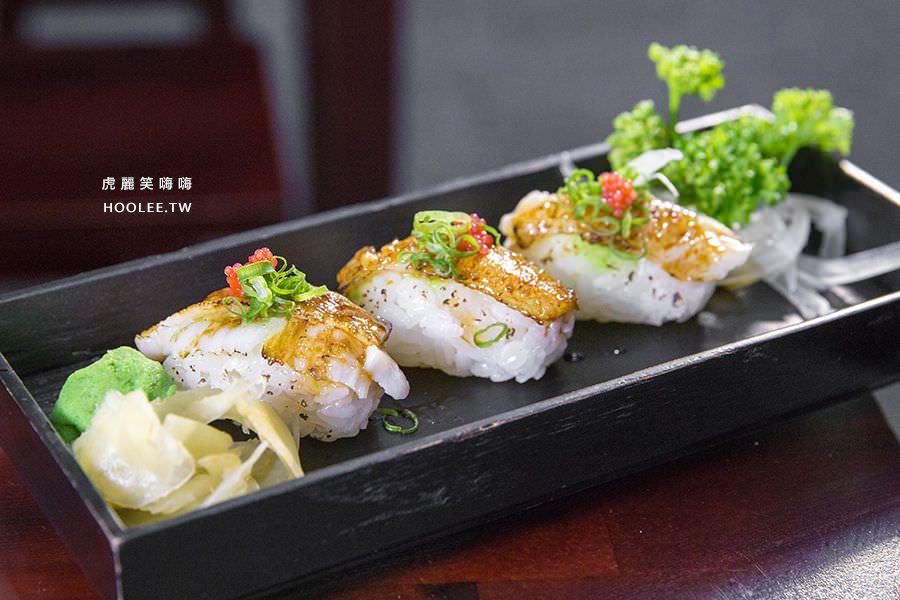 旭津壽司 高雄平價日本料理 炙燒比目魚握壽司(3入) NT$120