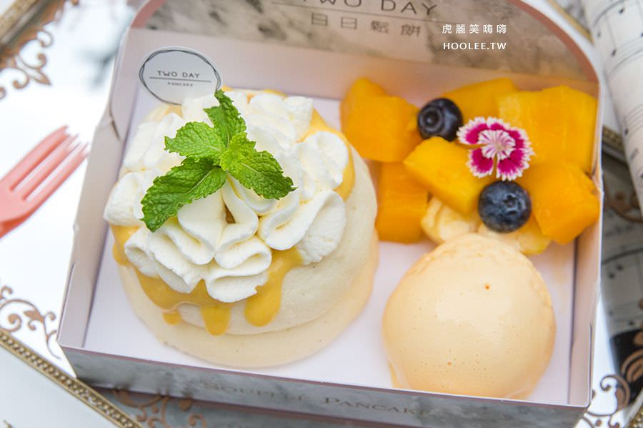 日日鬆餅 高雄 漢神巨蛋 舒芙蕾鬆餅 芒果花漾 NT$150 這款可加購+10元芒果冰淇淋