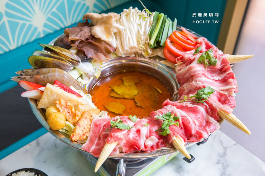 小越廚創意越式料理 高雄 越式料理推薦 雪花牛海陸帽子推推鍋(150g) NT$688