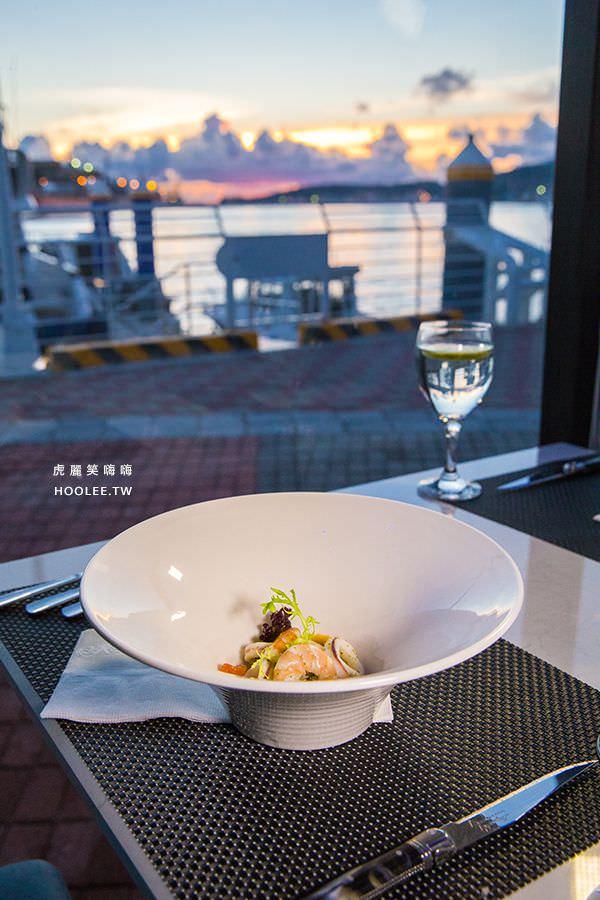 22號碼頭海景餐廳 高雄 檸檬、薄荷葉、extra virgin橄欖油漬拌海鮮