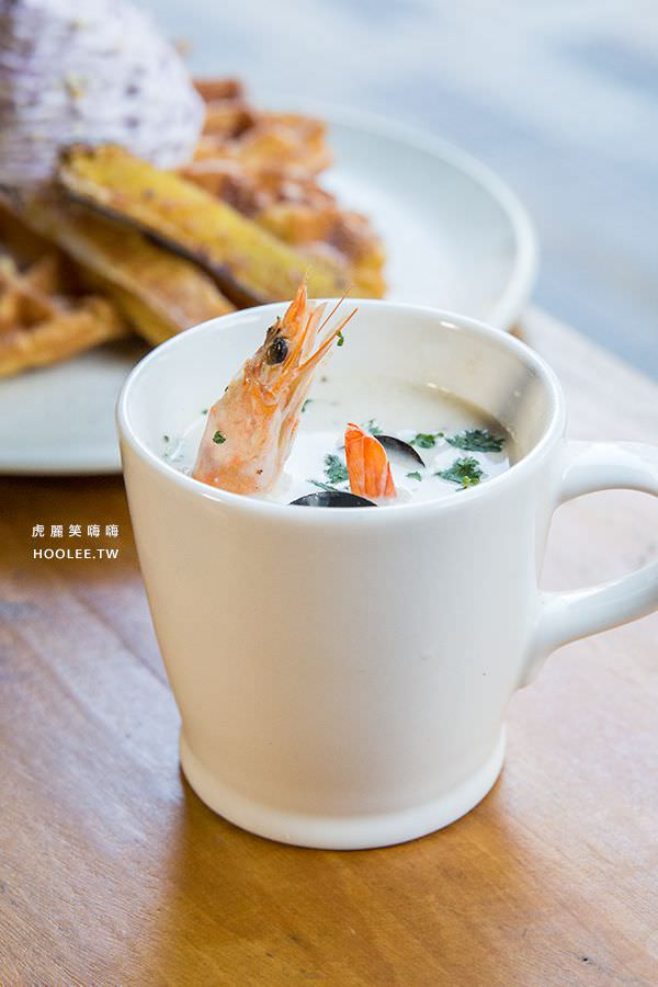 黑浮咖啡 高雄咖啡廳 海鮮巧達濃湯 NT$120