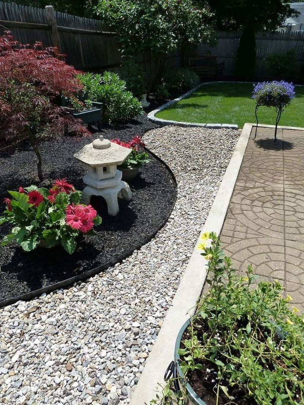 Beautiful Modern Rock Garden Ideas For Backyard Landscaping 13