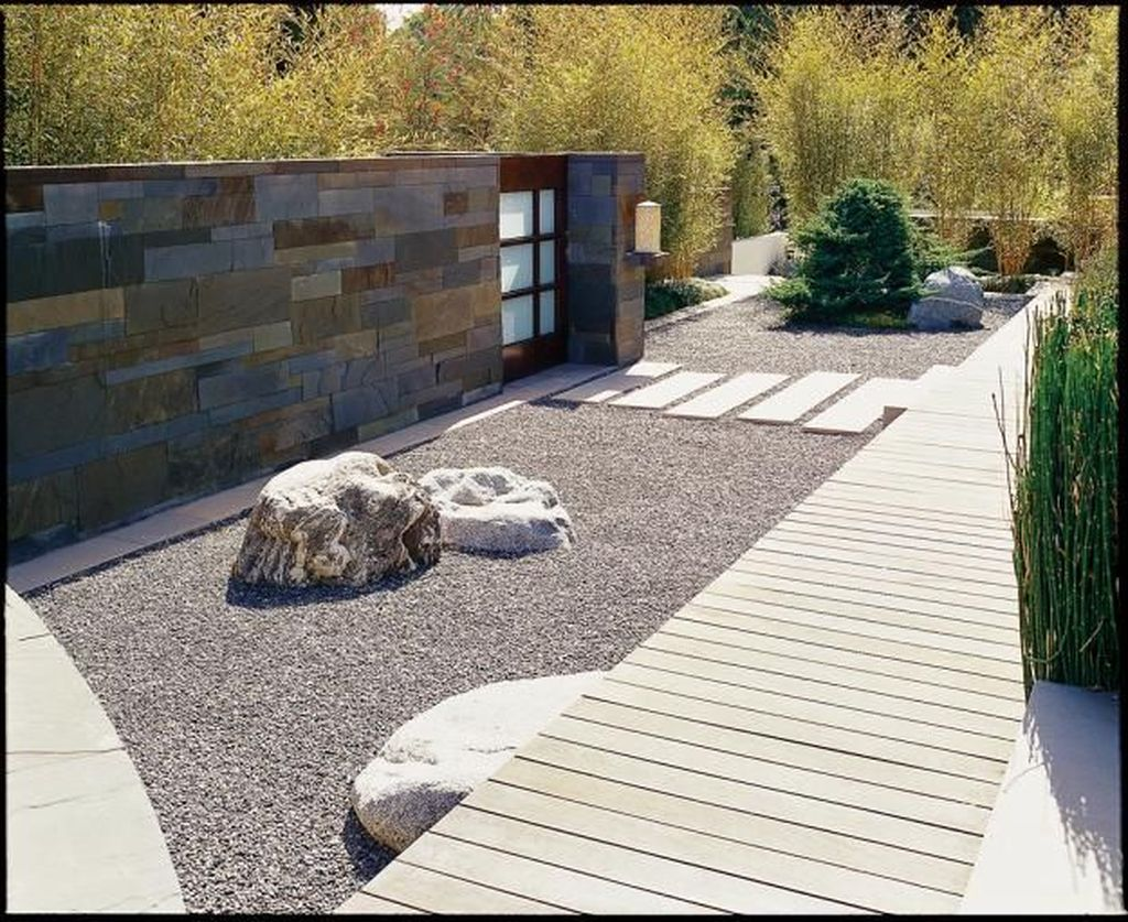 Beautiful Modern Rock Garden Ideas For Backyard Landscaping 25