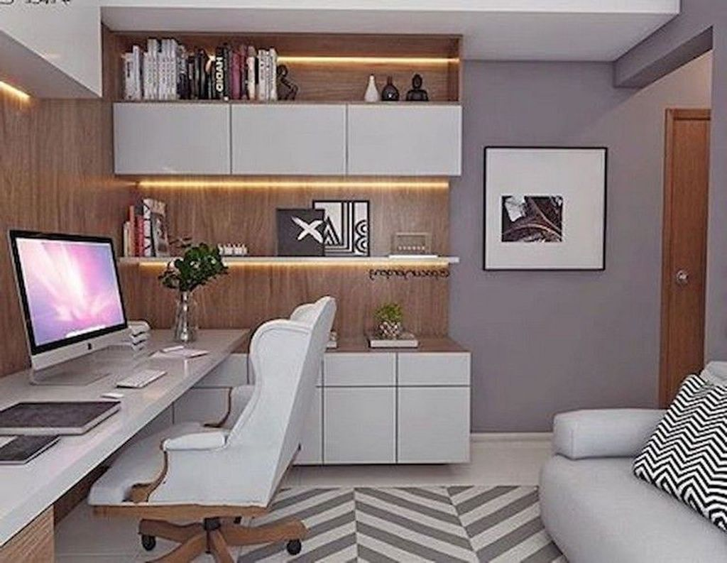 Amazing Contemporary Home Office Design Ideas 17