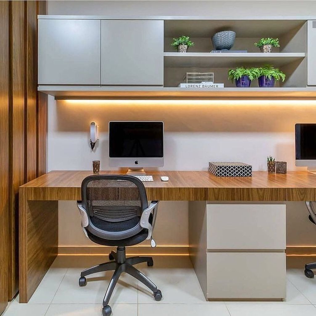 Amazing Contemporary Home Office Design Ideas 24
