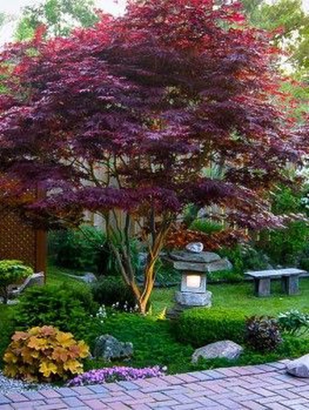 Awesome Backyard Landscaping Ideas With Elegant Accent 33