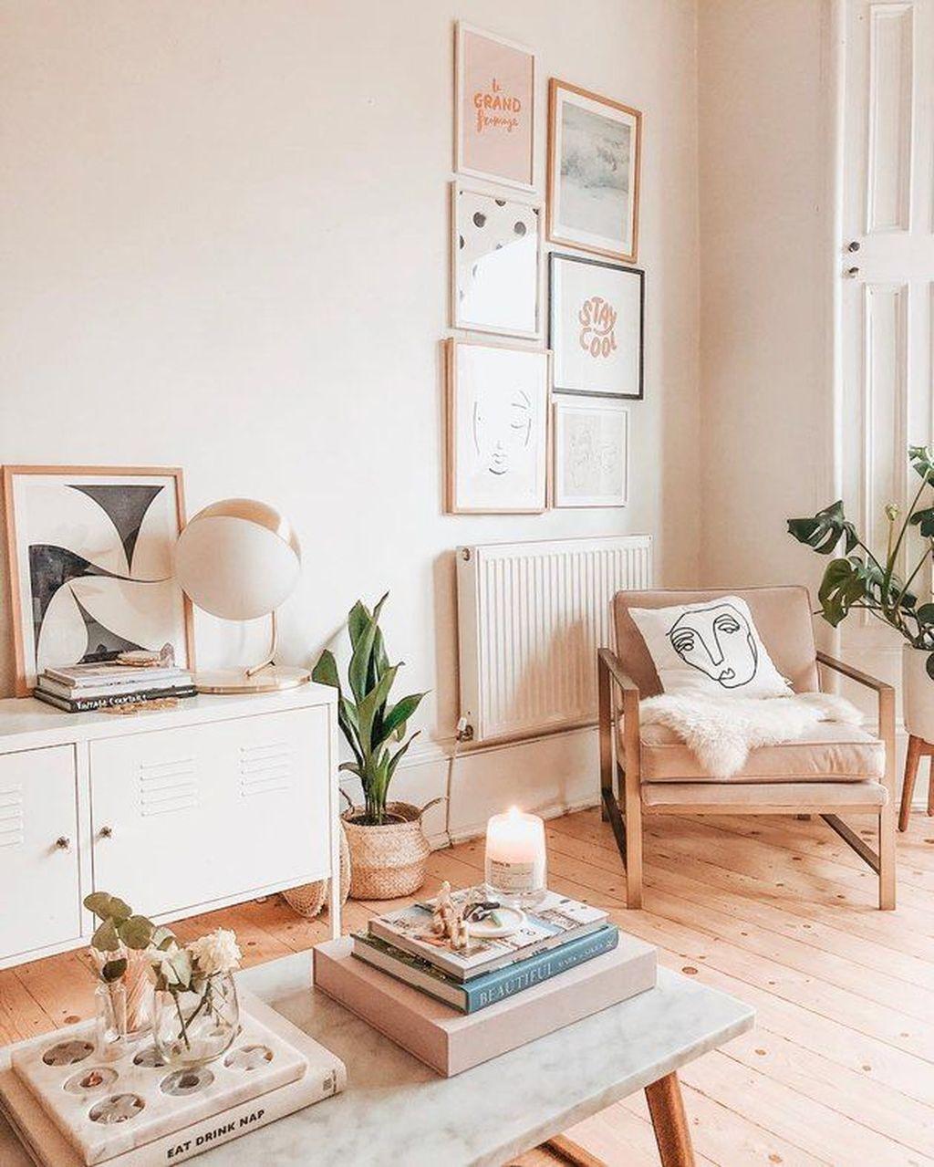 Beautiful Pink Living Room Decor Ideas 30