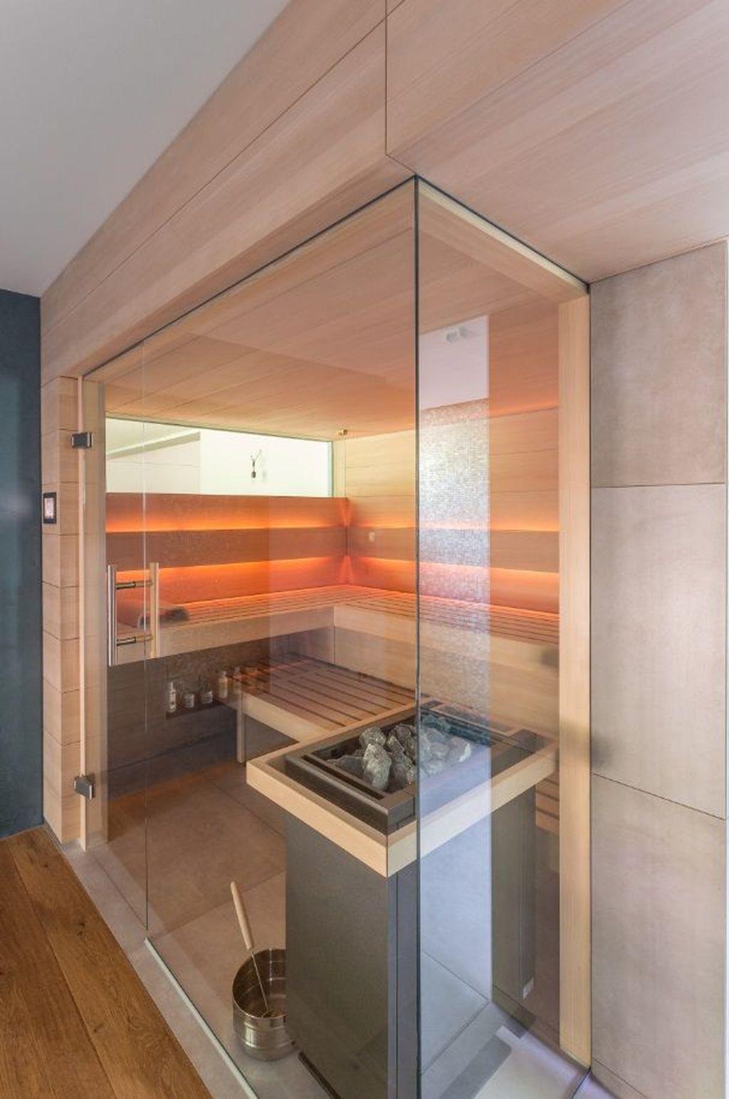 Beautiful Sauna Design Ideas For Your Bathroom 16