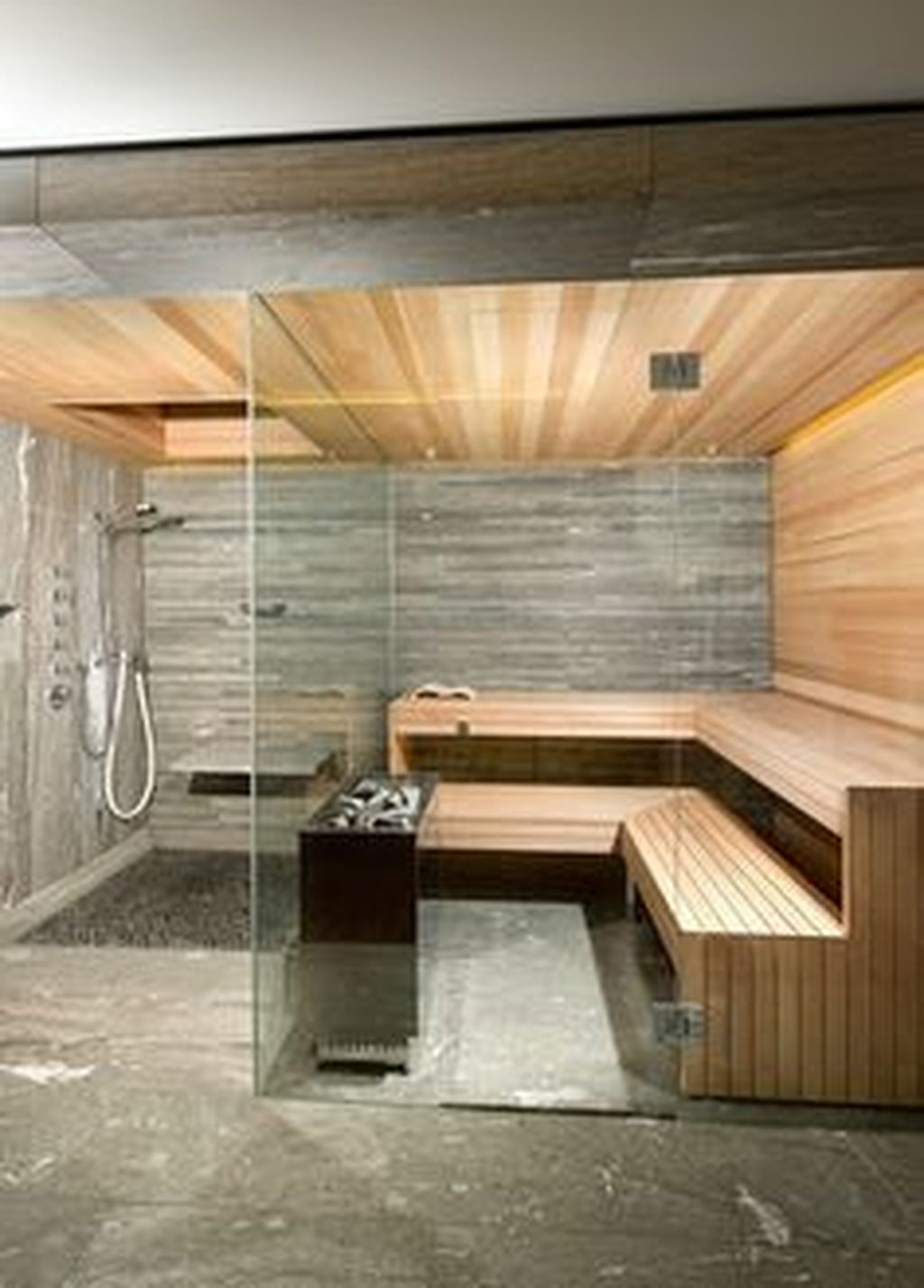 Beautiful Sauna Design Ideas For Your Bathroom 18