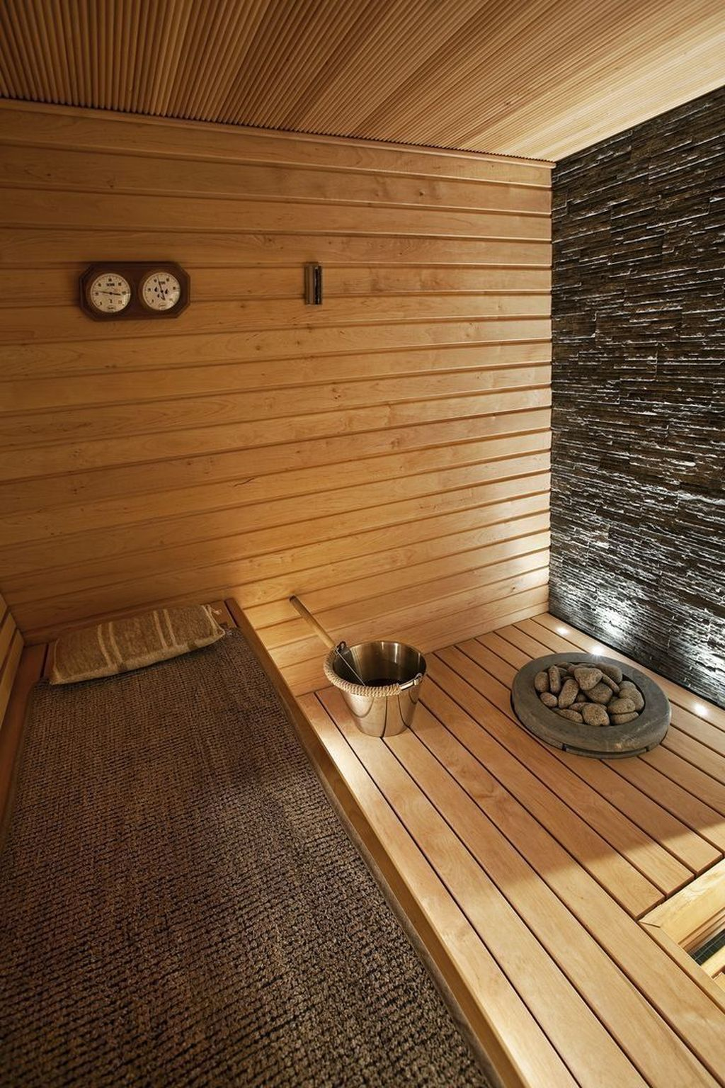 Beautiful Sauna Design Ideas For Your Bathroom 24