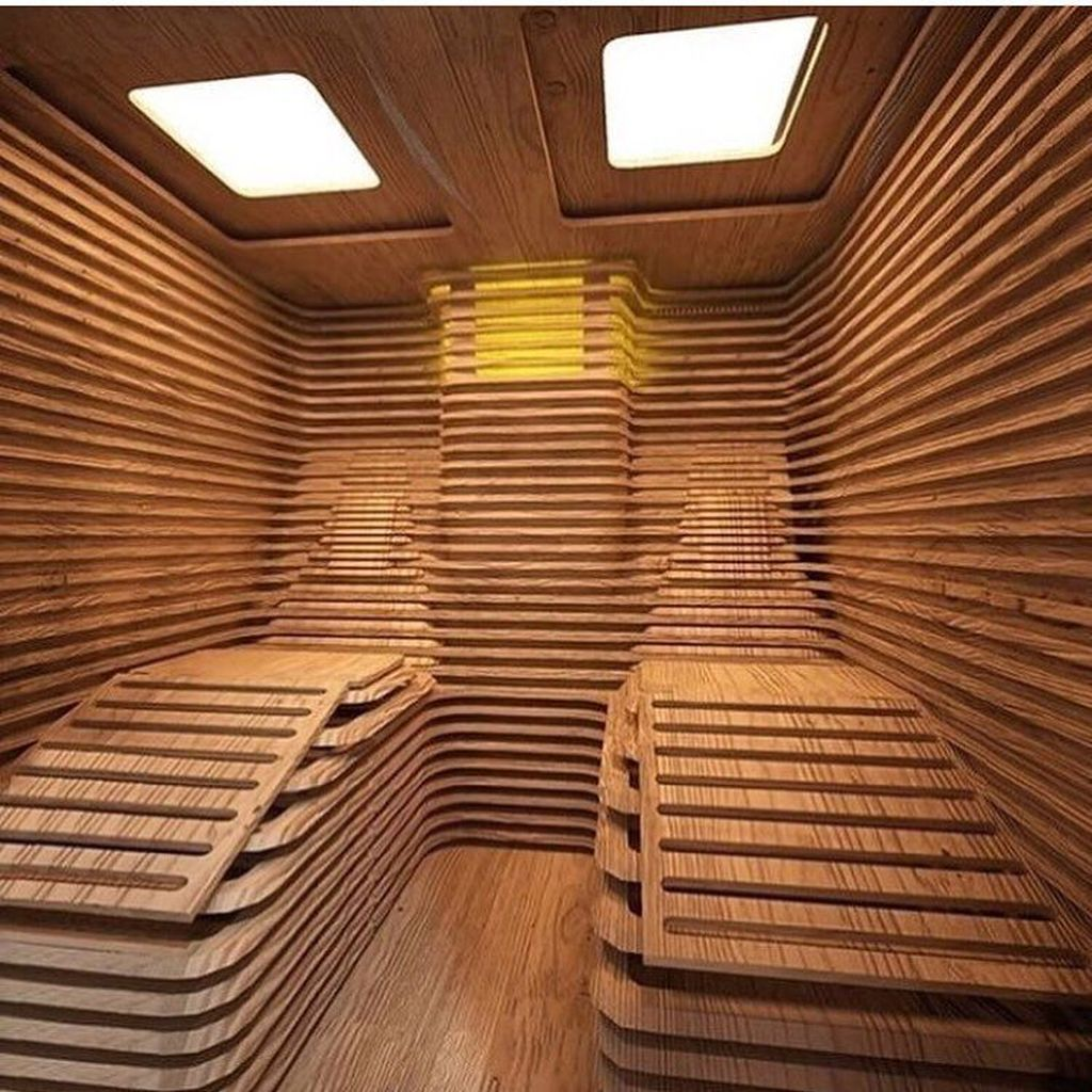 Beautiful Sauna Design Ideas For Your Bathroom 26