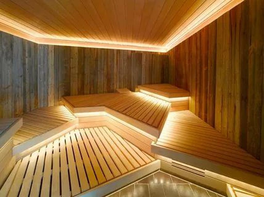 Beautiful Sauna Design Ideas For Your Bathroom 30