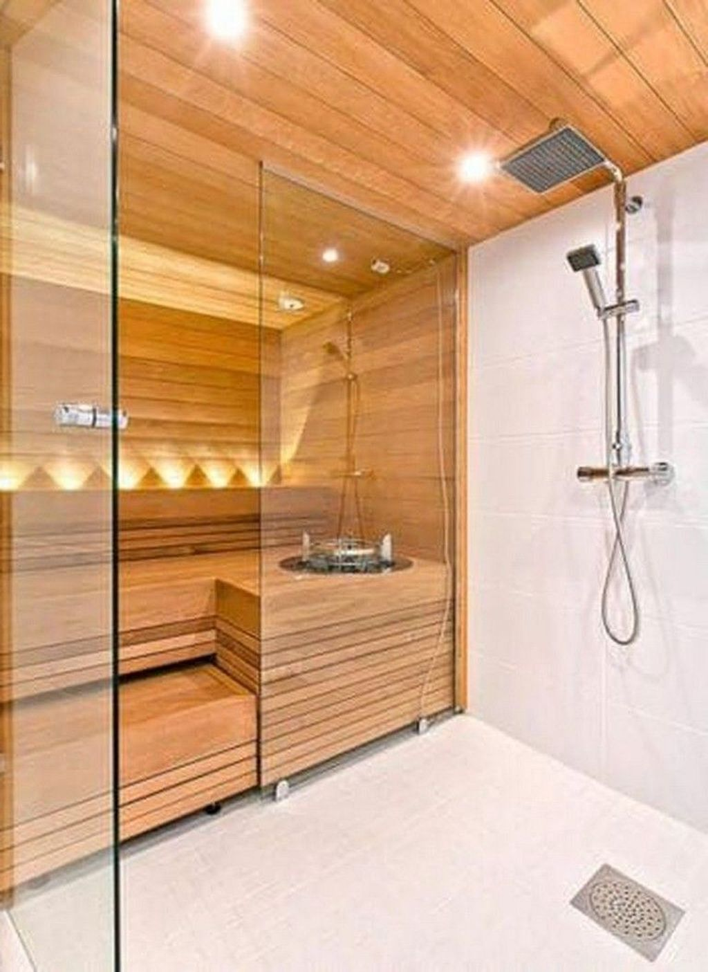 Beautiful Sauna Design Ideas For Your Bathroom 37