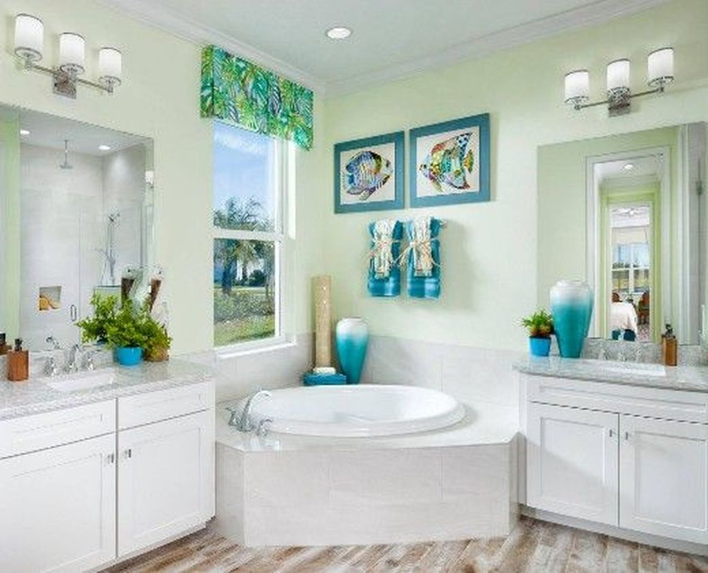 Fabulous Bathroom Decor Ideas With Coastal Style 13