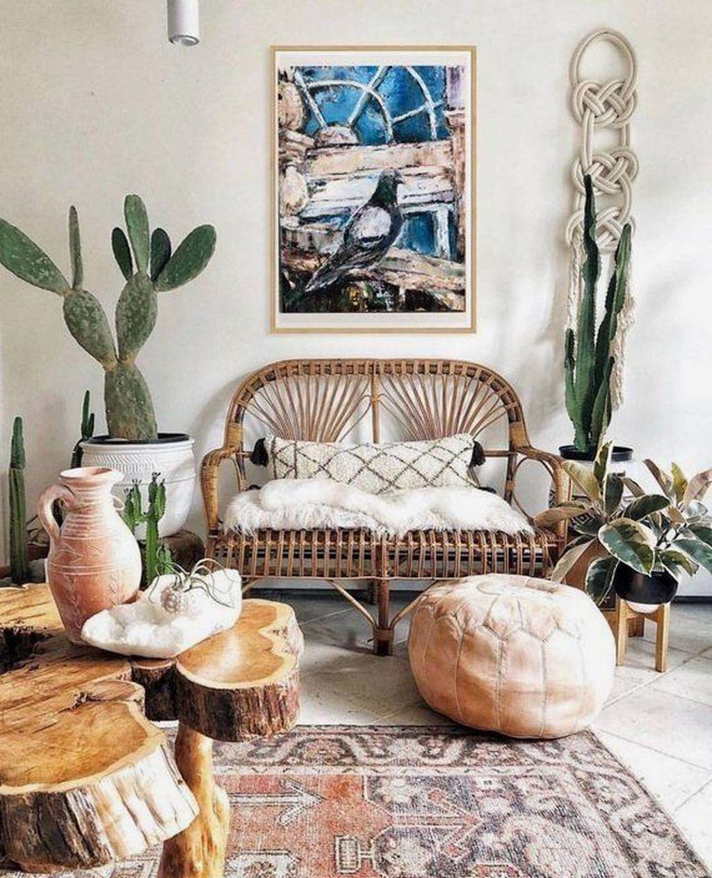 Fabulous Bohemian Living Room Decorating Ideas 07