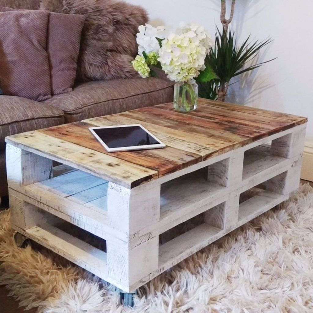 Gorgeous DIY Coffee Table Design Ideas 16