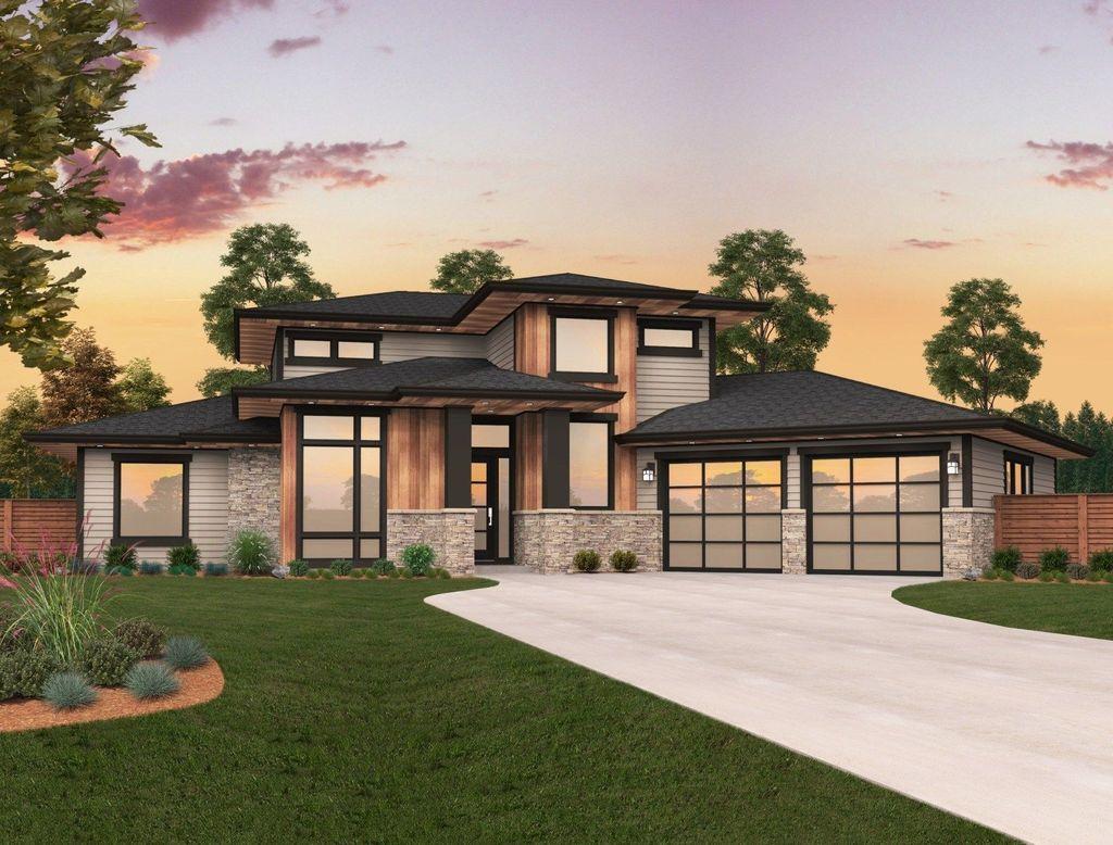 Lovely Modern Home Exterior Design Ideas 24