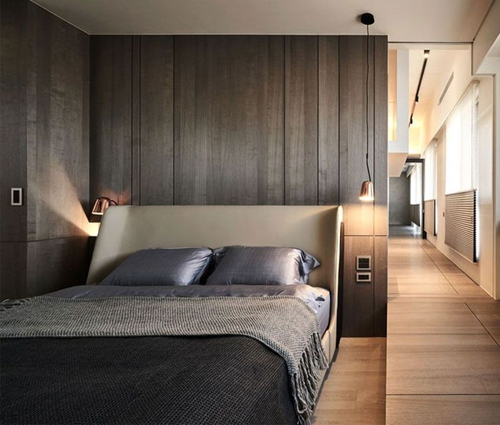 Popular Modern Man Bedroom With Elegant Look 08