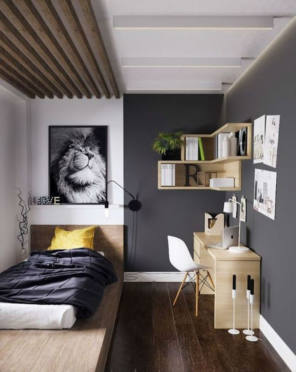 Popular Modern Man Bedroom With Elegant Look 18