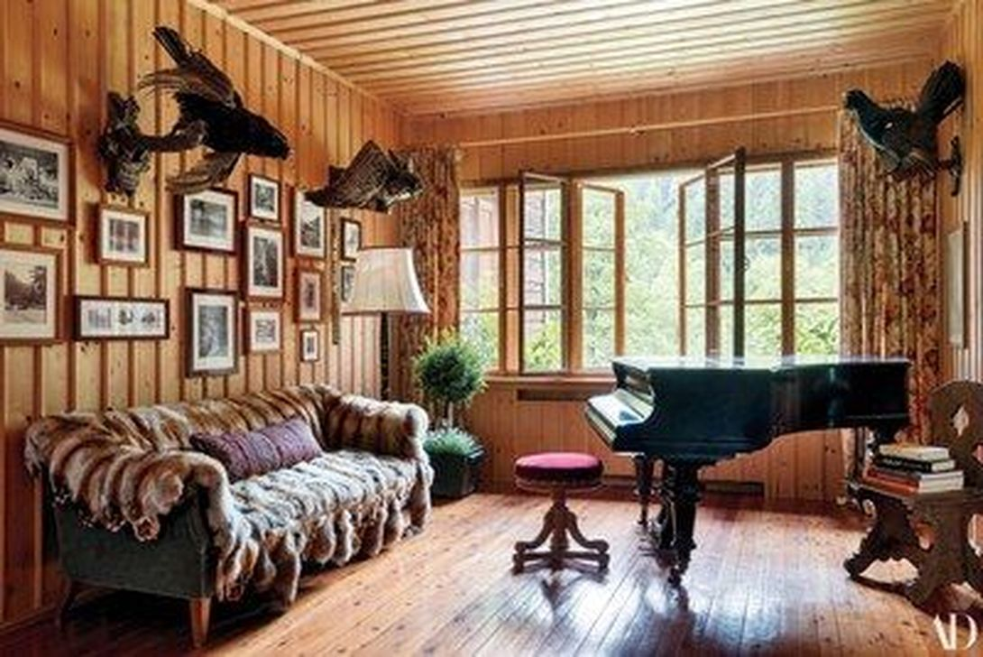 Stunning Lodge Living Room Decor Ideas 20