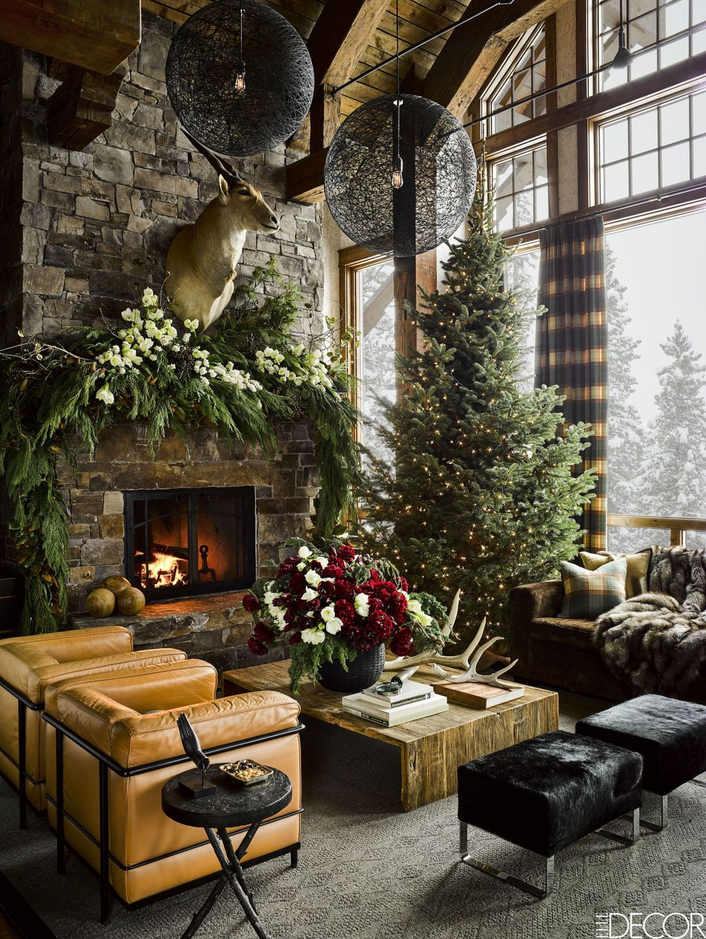 Stunning Lodge Living Room Decor Ideas 30