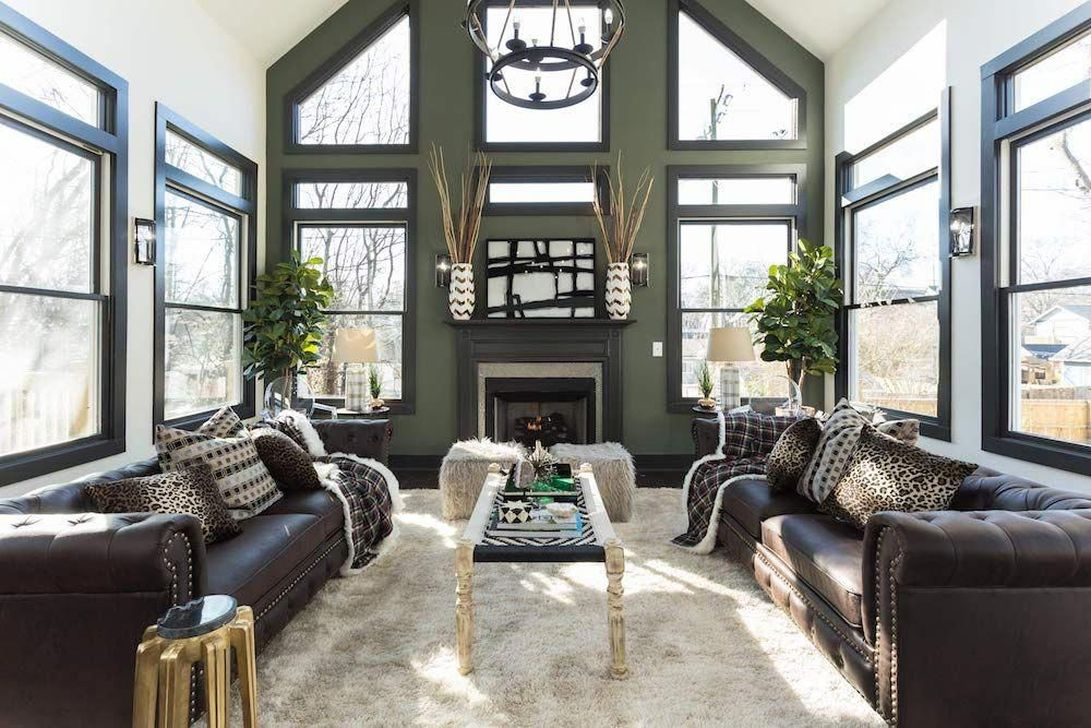 Stunning Lodge Living Room Decor Ideas 32