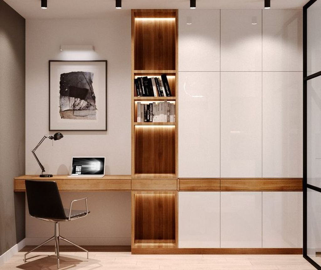 Stunning Modern Home Office Design Ideas 23