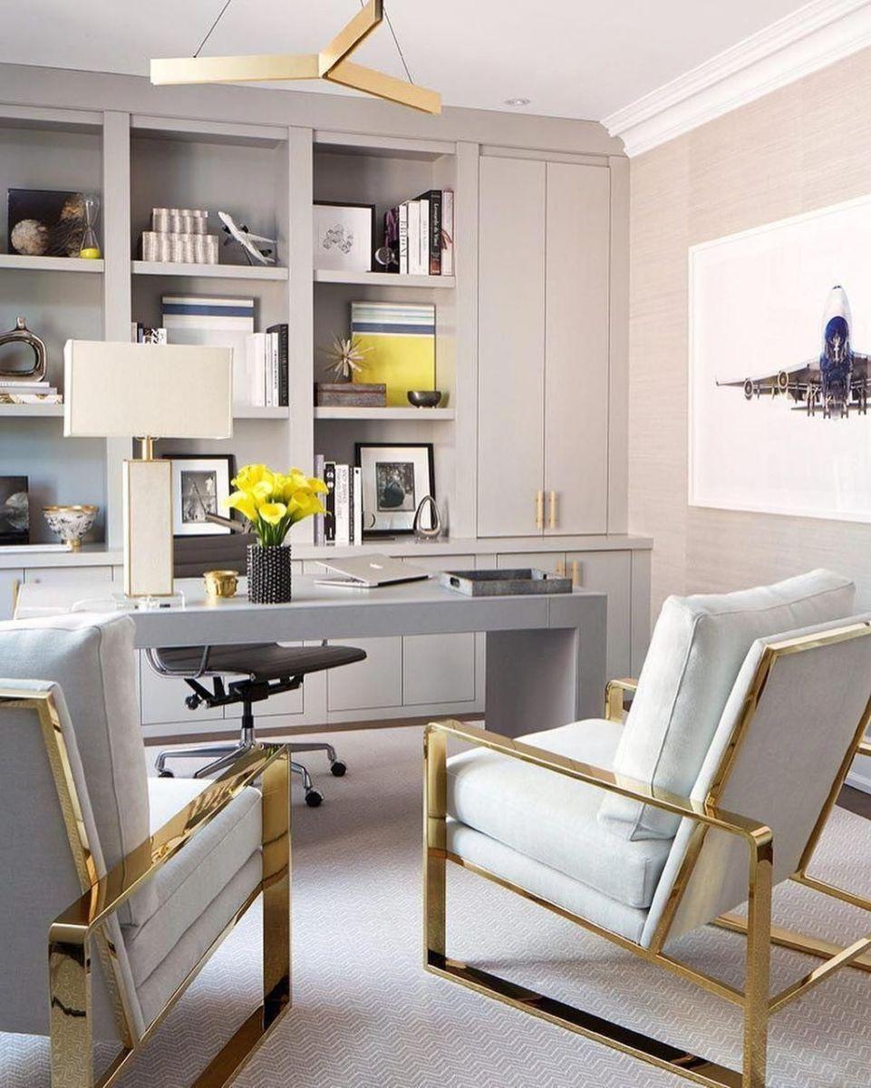 Stunning Modern Home Office Design Ideas 35