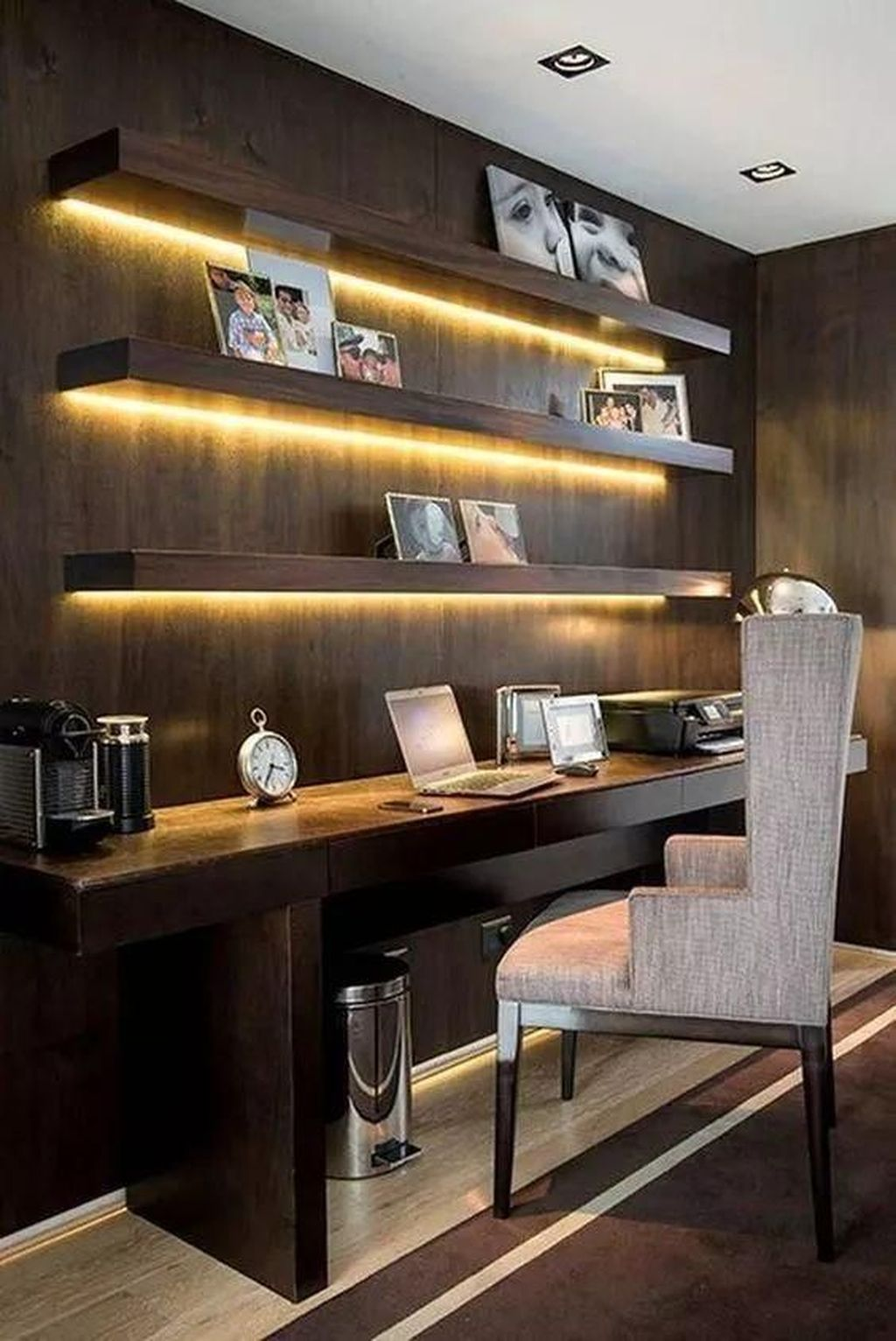 Stunning Modern Home Office Design Ideas 37