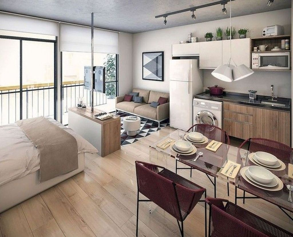 The Best Studio Apartment Layout Design Ideas 23