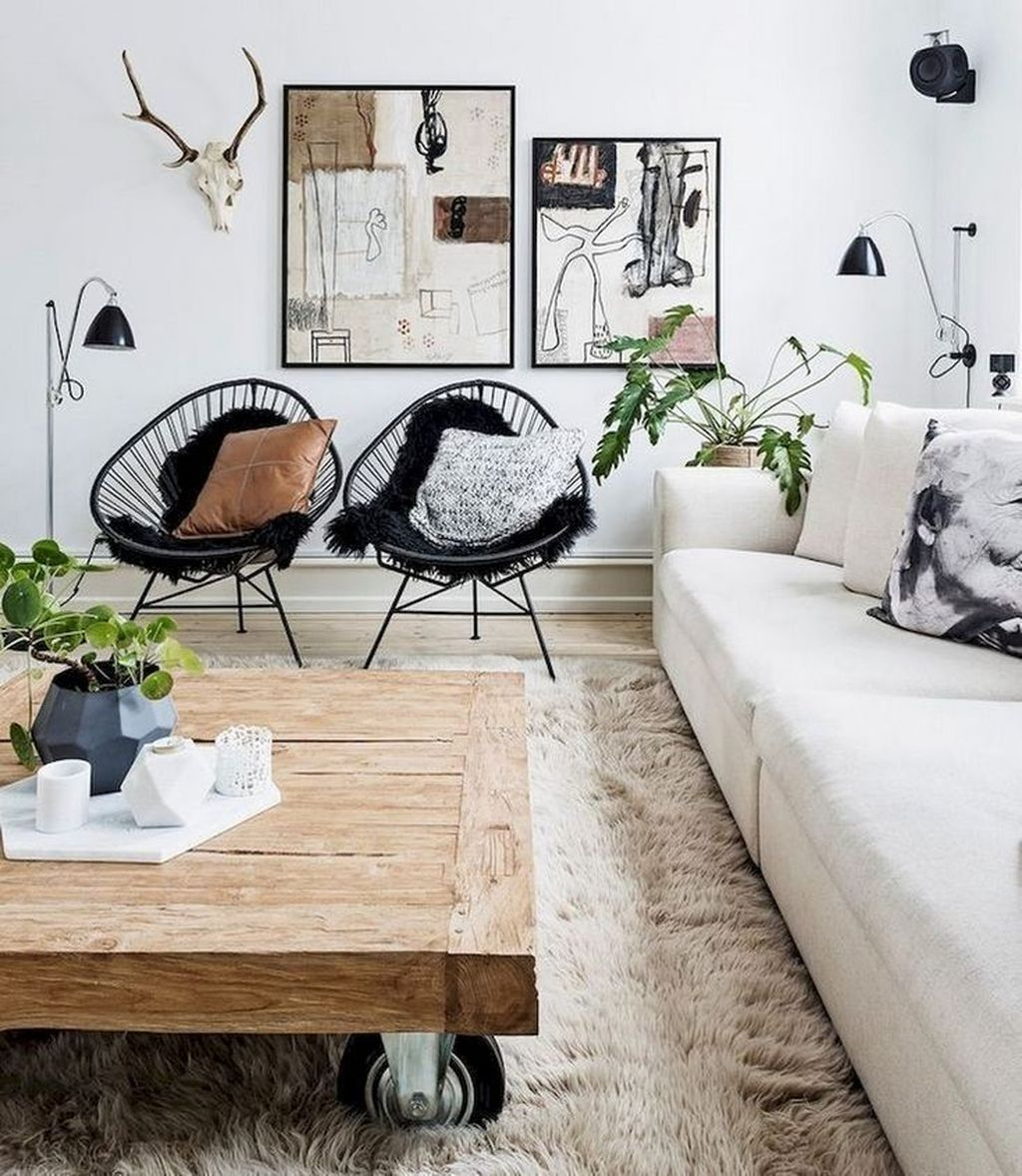Amazing Scandinavian Living Room Decor Ideas 36