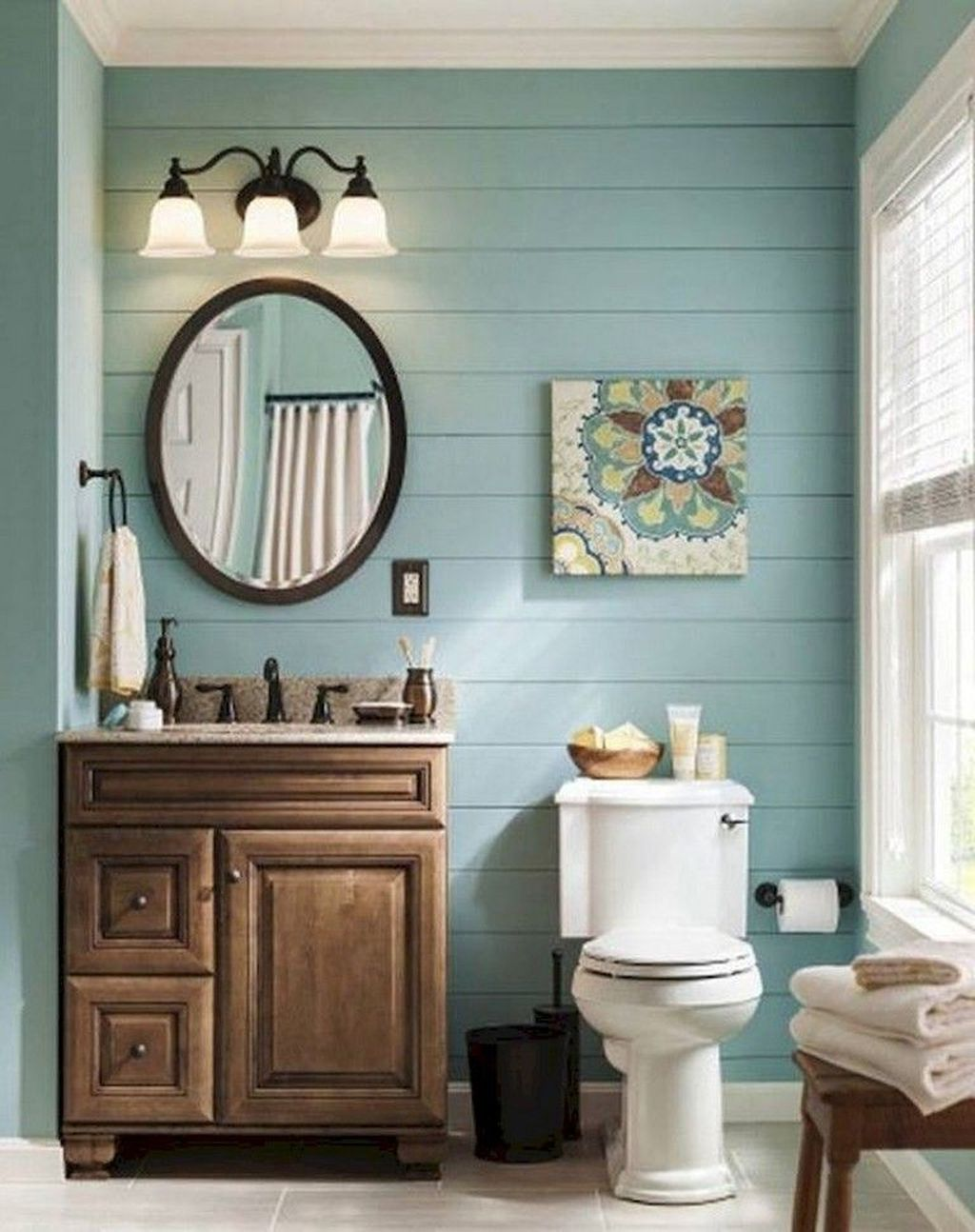 Awesome Coastal Style Bathroom Decorating Ideas 20